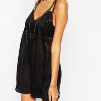 ASOS Broderie Back Swing Beach Dress