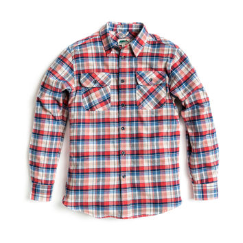 Elko Flannel - Red / White / Blue
