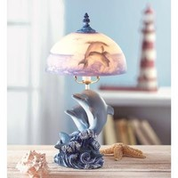Lovely Dancing Dolphin Table Lamp