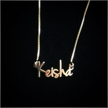 Script Tiny Name Necklace