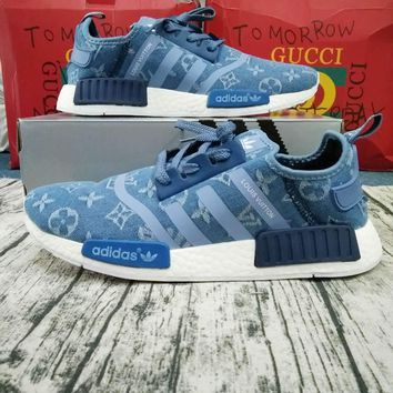 Adidas x Gucci x Louis Vuitton x Supreme NMD Women Men Trending Running Sports Shoes Sneakers Khaki G