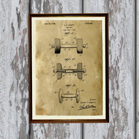 Dumbbell poster Sport print Patent art Antique home decor AKP156