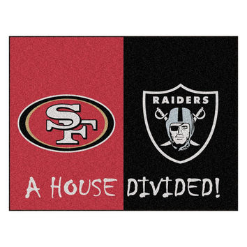 San Francisco 49ers-Oakland Raiders NFL House Divided NFL All-Star Floor Mat (34x45)