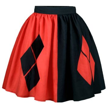 Atomic Harley Quinn Inspired Rockabilly Skirt