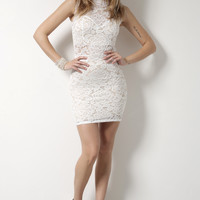 Gab & Kate Flower Bomb Dress- White