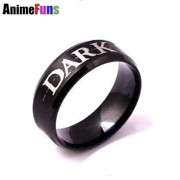 New Arrival Game Ring Dark Souls 3 Rings Darksoul III Stainless Steel Finger Ring 2 Sizes Choosed Dropshipping
