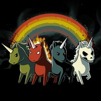 Four Unicorns of the Apocalypse | Funny, cute & nerdy shirts – TeeTurtle