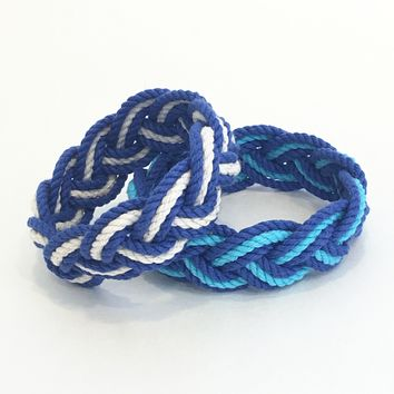 Striped Sailor Knot Bracelets Summer Blues