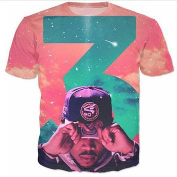 Newest Fashion Womens/mens Chance 3 Galaxy Summer Style Funny 3D Print Casual T-Shirt AB22