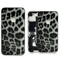 iPhone 4S Real Snow Leopard Glass Back Panel - iPhone4Parts.com