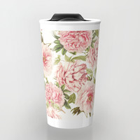 old fashioned peonies Travel Mug by Sylvia Cook Photography