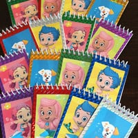 Set of 12 Bubble Guppies Mini Note Pads Notebooks Party Favors Gifts Under the Sea