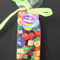 Fifty Fruit and Mushroom Mini Erasers
