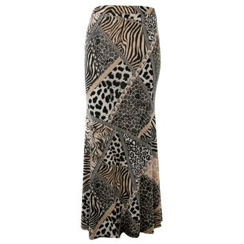 Convertible Maxi Skirt/Dress, Animal Print