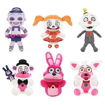 2017 New 20cm Five Nights At Freddy's toys FNAF Plush Toys gifts Cartoon Animals Wolf Rabbit Bear stuffed toys for girls boys