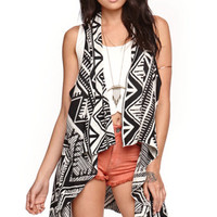 LA Hearts Drape Tribal Maxi Vest at PacSun.com