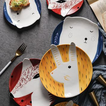 Adorable Animal 3D Designed Plates