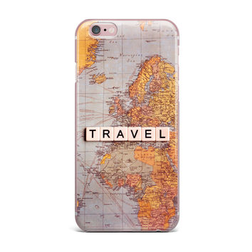 "Sylvia Cook ""Travel Map"" World iPhone Case"