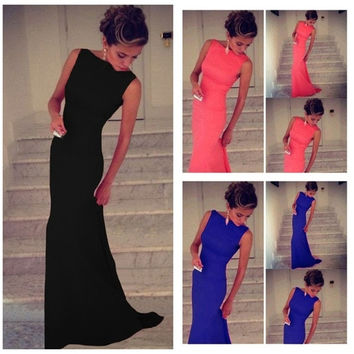 European sexy party dresses Womens Prom Ball Cocktail Long Dress Slim Maxi Formal Evening Gown = 1932598468