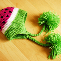 Crochet Watermellon Beanie by clbradt on Etsy
