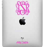 Personalized ipad Monogram Sticker
