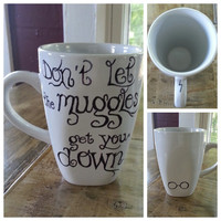 Custom Coffee Mug. Harry Potter, Muggles.