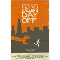 Ferris Bueller's Day Off vintage style movie poster