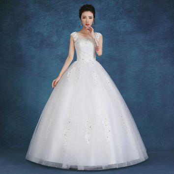 White Princess design lace Wedding Gowns