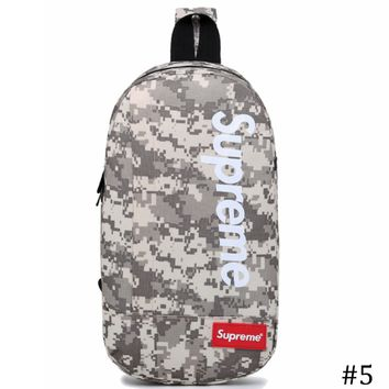 Supreme 2018 new multi-function canvas chest bag shoulder messenger pockets #5