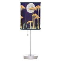 Shrooms In Moonlight Desk Lamp