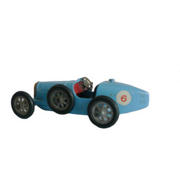 Vintage Matchbox Model Car 1926 Type 35 Bugatti Blue Toy Models of Yesteryear No. 6  - Made in England by Lesney