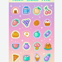 Yummy Snack Time sticker sheet