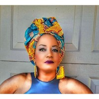 The Sashe African Print Head Wrap