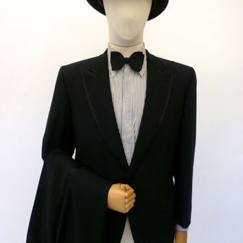 VINTAGE 1960s BRILL OF LEEDS DINNER SUIT 42 SHORT W36