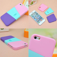 multicolor mix case for iphone4/4s/5  from wishbest