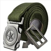 Military Canvas Belt Buckle with Automatic Buckle