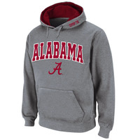 Alabama Crimson Tide Stadium Athletic Arch & Logo Pullover Hoodie - Gray