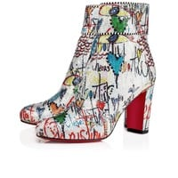 Moulamax 85 Silver Loubitag Paillette - Women Shoes - Christian Louboutin