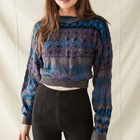 Urban Renewal Recycled Printed Cropped Sweater | Urban Outfitters
