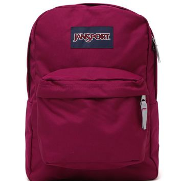 JanSport Superbreak School Backpack - Womens Backpack - Purple - One