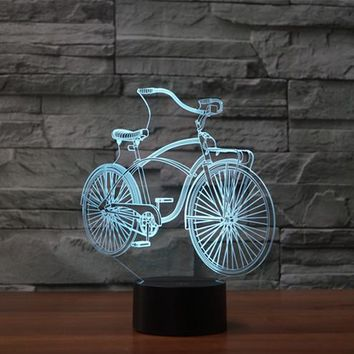 Classic Bicycle 3D LED Night Light Lamp