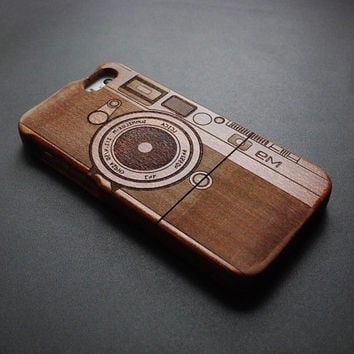 Camera M9 Wood iPhone 5s Case - Real Wood iPhone 5 Case - Custom iPhone 5s Case Wood - Wooden iPhone 5 Case - Case iPhone 5s 5 - Best Gift