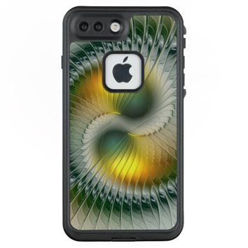 Yin Yang Green Yellow Abstract Colorful Fractal LifeProof® FRĒ® iPhone 7 Plus Case