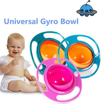 Universal Gyro Bowl Practical Design Children Rotary Balance Bowl Novelty Gyro Umbrella Bowl 360 Rotate Spill-Proof Bowl