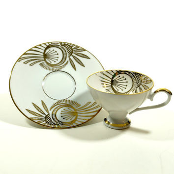 Vintage coffee cups, Demitasse Cups and Saucers, Espresso Cup Set, Vintage China Set, Cup and Saucer Coffee Tea, Tableware, Bavaria