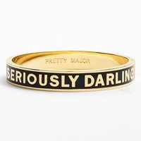 Women's kate spade new york 'idiom - seriously darling' enamel hinge bangle