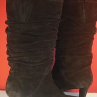 Talbots Boots Brown Suede Slouchy SZ 7 NEAR MINT