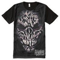 Monster All-Over Printed Panel T-Shirt All-Over Print T-shirt