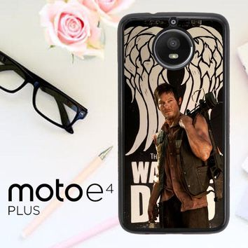 The Walking Dead Daryl Dixon Wings Z2791 Motorola Moto E4 Plus Case