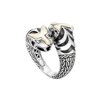 Classic Chain Macan Double Head Ring, Size 7 - John Hardy
